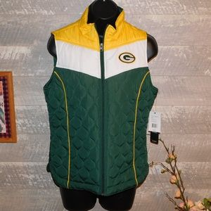 Green Bay Packers Quilted Team Vest NFL